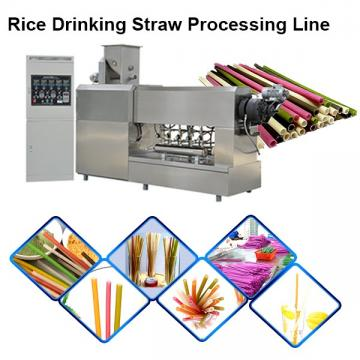 Edible Non-Plastic Drinking Pipe Extruder Cassava Starch Food Grade Rice Straw Making Machine